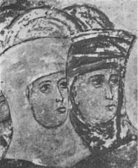 Жены праведные (фрагмент фрески Андрея Рублева)